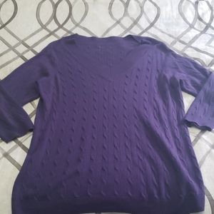 Gently used purple pullover sweater